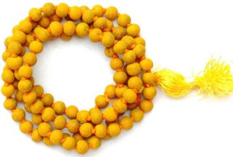 Buy siddha haldi mala turmeric rosary for baglamukhi puja