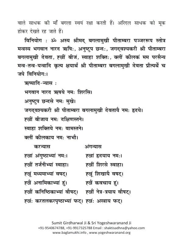 Baglamukhi Panjar Stotram Hindi Sanskrit Pdf 2