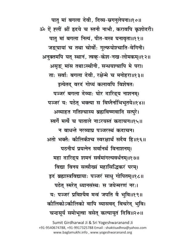 Baglamukhi Panjar Stotram Hindi Sanskrit Pdf 5